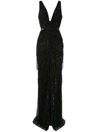 Shop black Zuhair Murad sleeveless maxi dress with Express Delivery - Farfetch