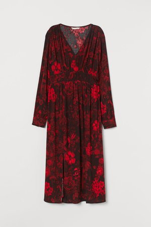 MAMA Creped Dress - Red