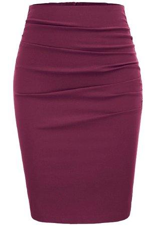 berry pencil skirt