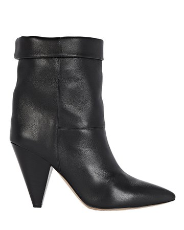 Isabel Marant Luido Leather Ankle Boots | INTERMIX®