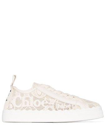 Chloé Lauren lace-detail sneakers CHC19U108D26J1 - Farfetch