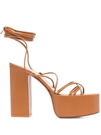 Shop brown Paris Texas chunky leather sandals with Express Delivery - Farfetch