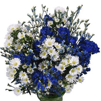 Hues of Blue Filler Flower Centerpiece