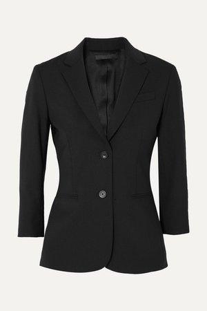 Schoolboy Stretch Wool-blend Crepe Blazer - Black