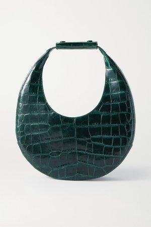 Emerald Moon croc-effect leather tote   STAUD   NET-A-PORTER