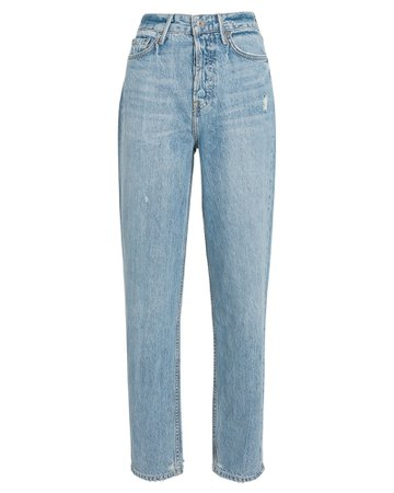 GRLFRND Devon High-Rise Straight-Leg Jeans | INTERMIX®