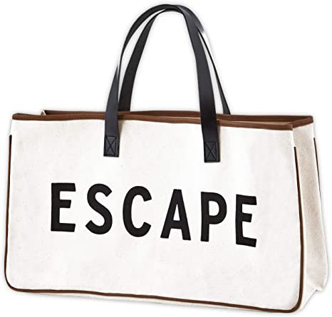 Amazon.com: Santa Barbara Designs Weekend Vibes Canvas Beach Bag, Beach Tote, Carry Bag by Santa Barbara Design Studio (Escape), Escape Black and White