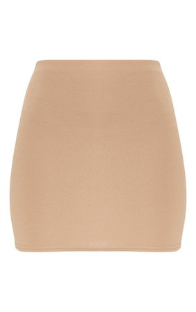 Camel Mini Suit Skirt | Skirts | PrettyLittleThing USA