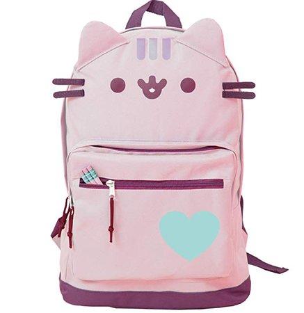 Amazon.com | Pusheen Cat Face Backpack Standard (Pink Standard) | Casual Daypacks