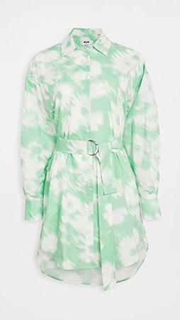 MSGM Tie Dye Shirt Dress   SHOPBOP