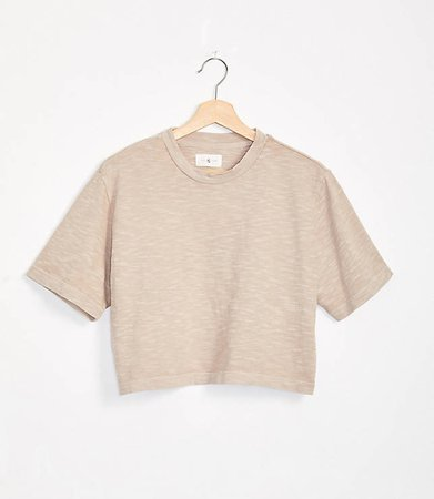 Cozy Jersey Crop Top | Lou & Grey cream