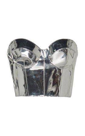 Ralph&Russo Metallic Corset PVC Top