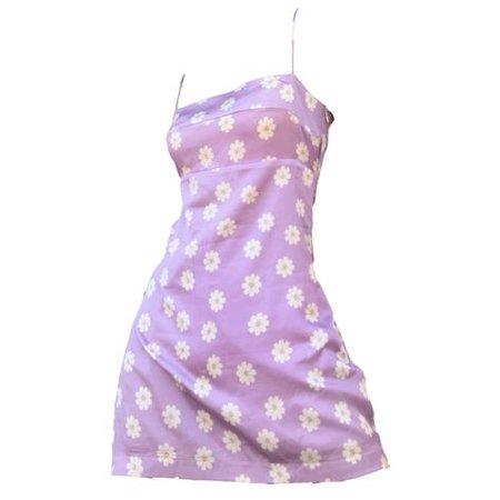 purple floral dress png