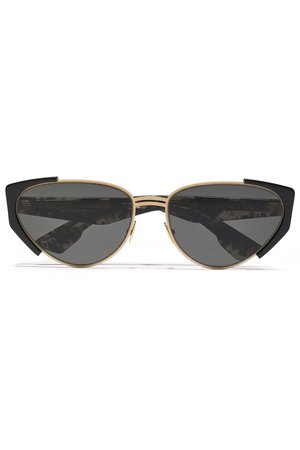 Gold Cat-eye acetate and gold-tone sunglasses | Sale up to 70% off | THE OUTNET | ZANZAN | THE OUTNET