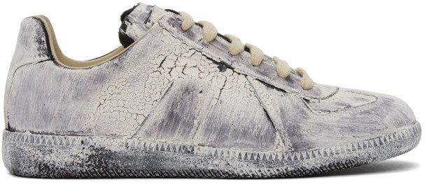 White Paint Replica Sneakers