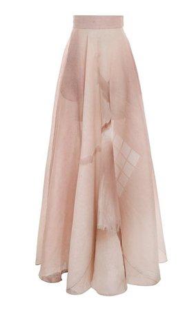 Dancer Linen-Silk Maxi Skirt By Zimmermann   Moda Operandi
