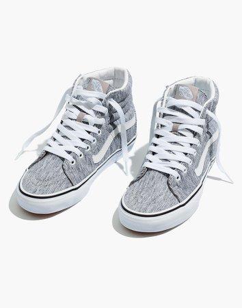 Vans Unisex SK8-Hi High-Top Sneakers in Grey Rib