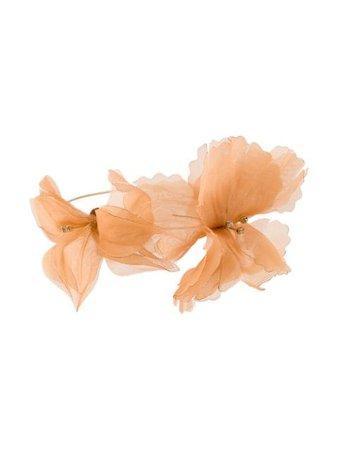 Forte Forte Organza Flower Choker 7399MYJEWEL Orange   Farfetch