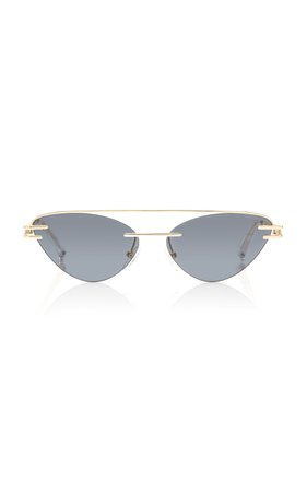 The Coupe Metal Cat-Eye Sunglasses by Adam Selman X Le Specs | Moda Operandi