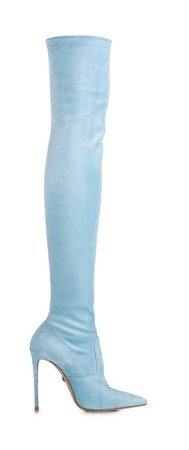 powder blue over-the-knee boot