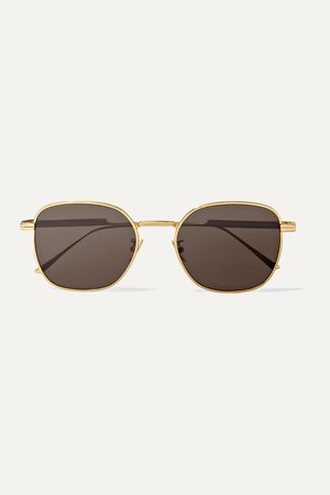 Gold Light Ribbon square-frame gold-tone sunglasses | Bottega Veneta | NET-A-PORTER