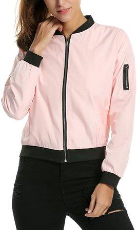 Zeagoo Womens Classic Quilted Jacket Short Bomber Jacket Coat at Amazon Women's Coats Shop