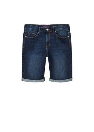 Violeta BY MANGO Dark denim bermuda shorts