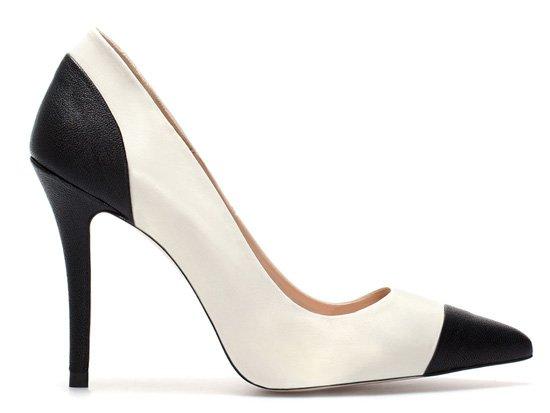 Zara two-tone black and white court shoes > Shoeperwoman