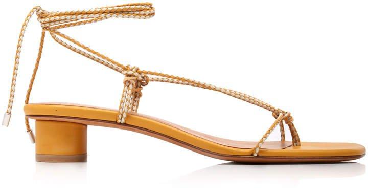 Dora Leather Lace-Up Sandals