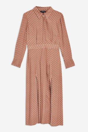 PETITE Rust Spot Shirtdress - Topshop