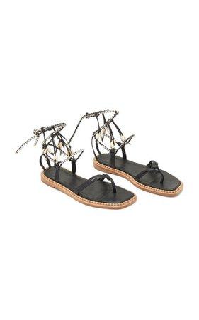 Hanalei Seashell Leather Sandals By Ulla Johnson | Moda Operandi