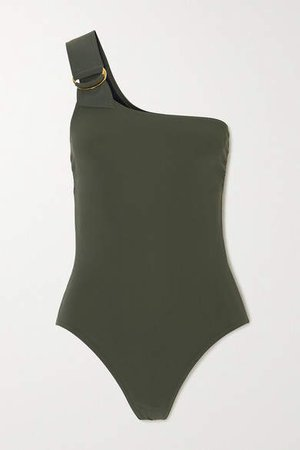 Angelina One-shoulder Swimsuit - Army green