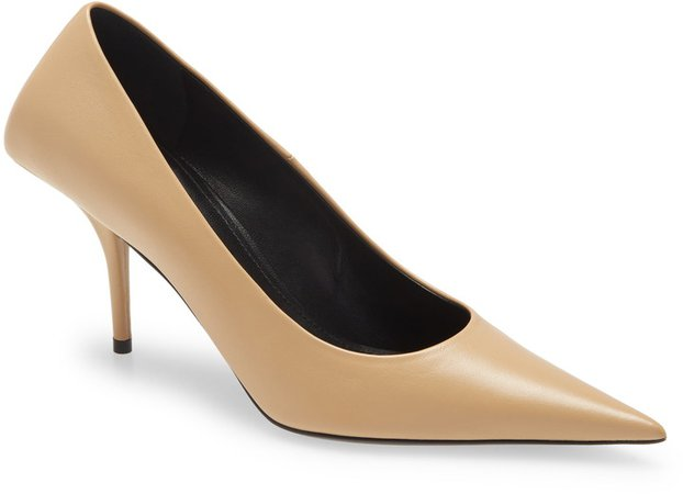 Square Knife Pointed Toe Pump