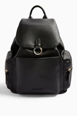 BETTY Black Backpack   Topshop