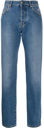 broken-heart straight leg jeans