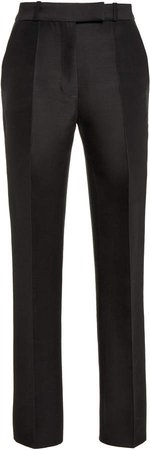 Martin Grant Cropped Wool-Silk Skinny Pants