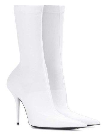 BALENCIAGA White Knife Boots