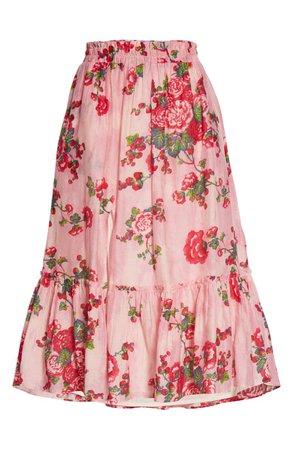 LoveShackFancy Floral Print Skirt | Nordstrom