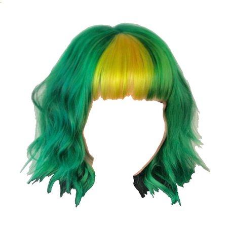 green yellow hair