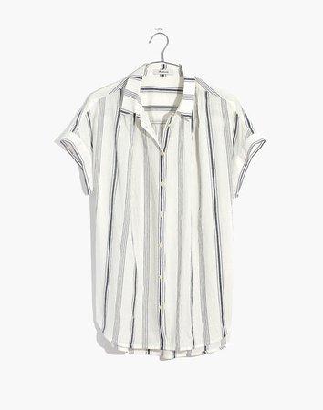 Central Shirt in Parkman Stripe white