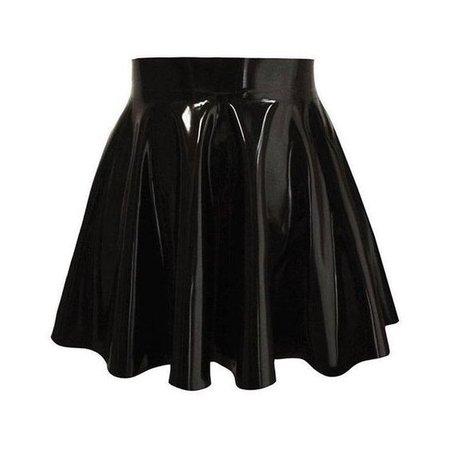 PVC Vinyl Mini Skater Circle Flared Skirt