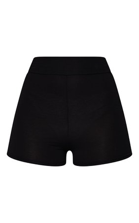 *clipped by @luci-her* Black Basic High Waisted Shorts | Shorts | PrettyLittleThing USA