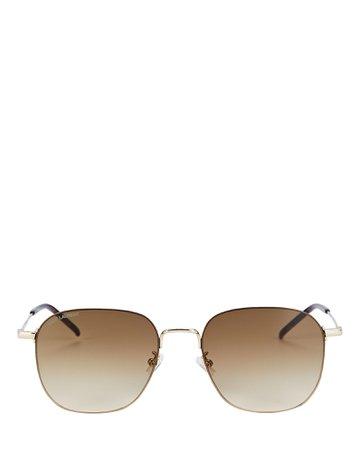 Saint Laurent Wire Square Sunglasses | INTERMIX®