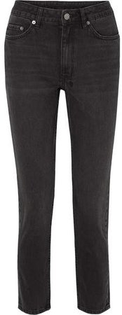 High Society High-rise Slim-leg Jeans - Black