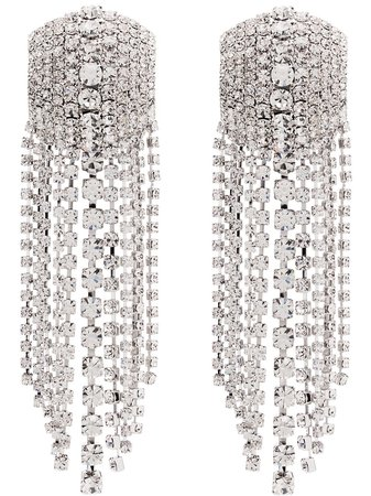 Alessandra Rich Square Cascade Crystal Earrings - Farfetch