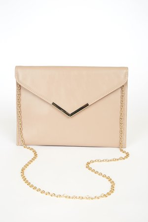 Chic Taupe Clutch - Envelope Clutch - Faux Leather Clutch - Lulus