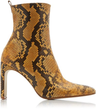Marcelle Snake-effect Leather Boots