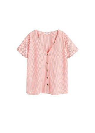 Violeta BY MANGO Buttons stripes shirt