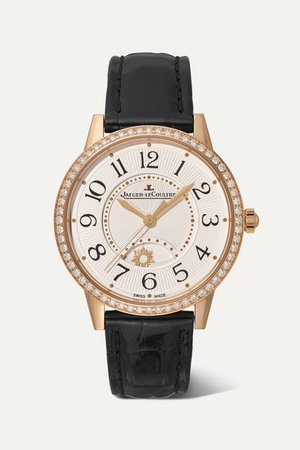 Jaeger-LeCoultre | Rendez-Vous Night & Day 34mm medium rose gold, alligator and diamond watch | NET-A-PORTER.COM