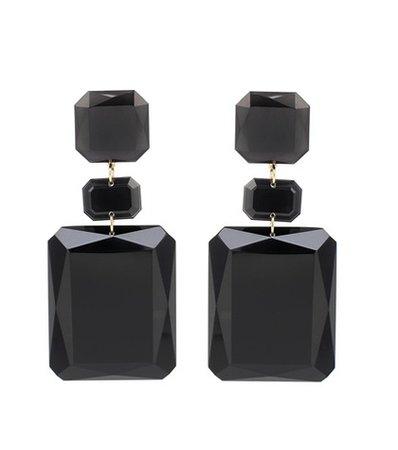 Big Mama square resin earrings